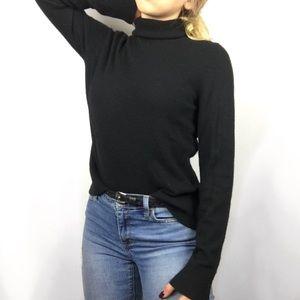 Bloomingdales Black Cashmere Turtleneck Sweater